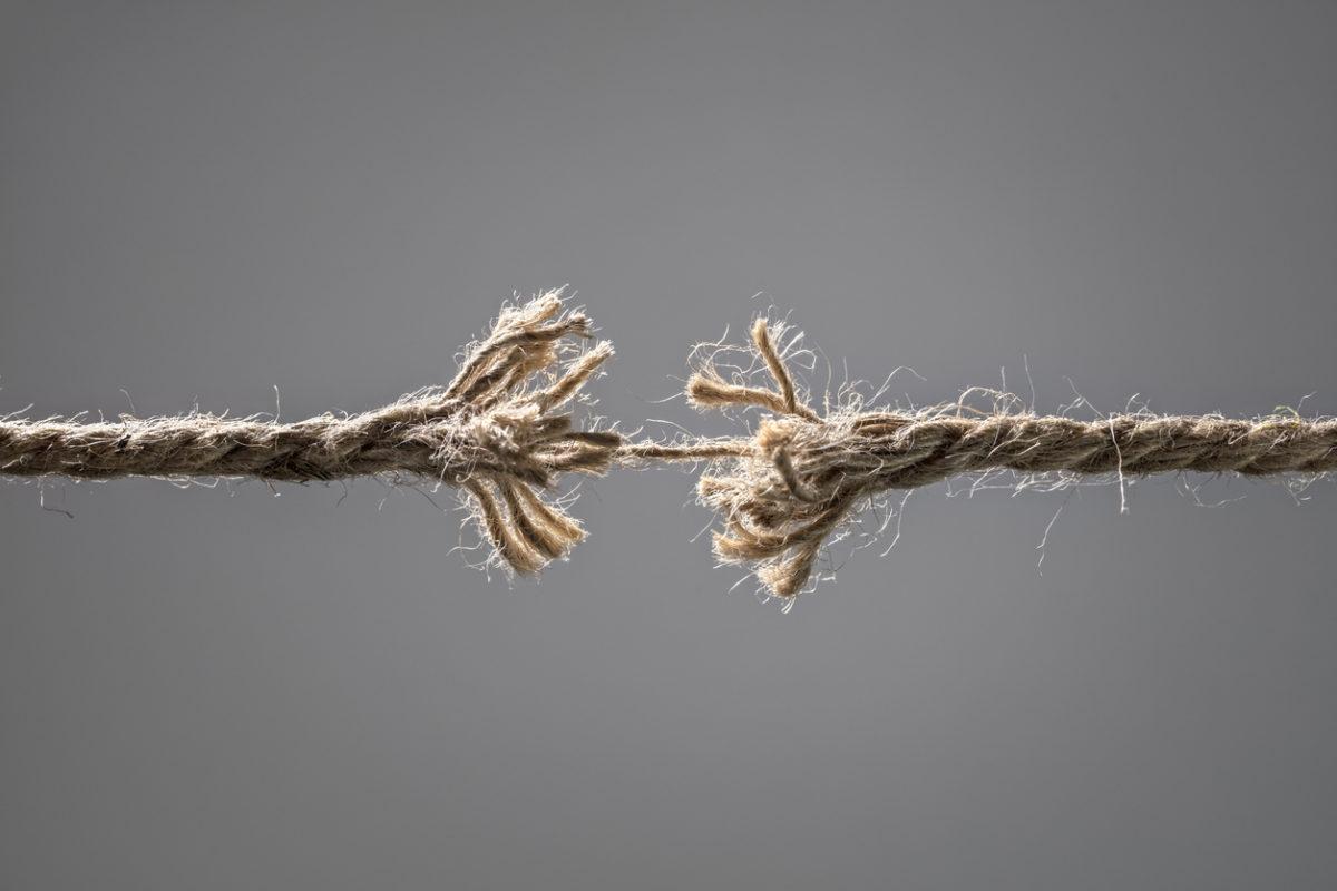 Burn out corde qui lâche